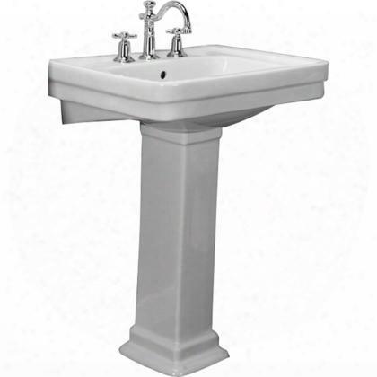 3-668wh Sussex 660 Pedestal Lavatory 8cc