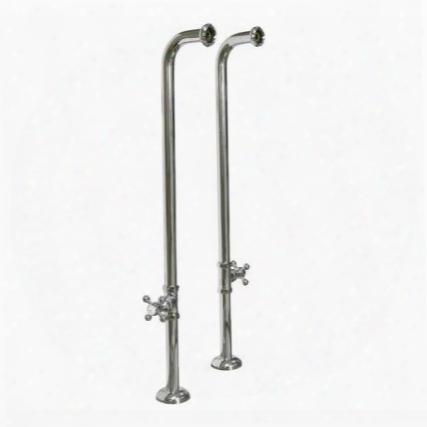 4502mc-37-pb 37-1/2 Freestanding Tub Sup. W/ Stops Cross Handles-polished