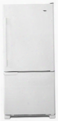 Abb1921brw 18.7 Cu. Ft. Bottom-freezer Refrigerator With Freezer Basket Energy Star Rating Gallon Door Storage Dairy Center Reversible Door Swing And