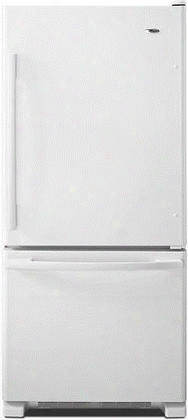"Abb1924brw 30"" 18.5 Cu. Ft. Bottom-freezer Refrigerator With Spillsave Glass Shelves Temp Assure Freshness Controls And Garden Fresh Crisper Drawers In"