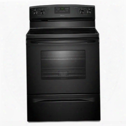 "Aer5330bab 4.8 Cu. Ft. Capacity Smoothtop 30"" Electric Range With Radiant Elements Spillsaver Upswept Cooktop In"