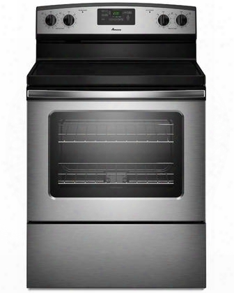 "Aer5330bas 4.8 Cu. Ft. Capacity Smoothtop 30"" Electric Range With Radiant Elements Spillsaver Upswept Cooktop Extra-large Oven Window And Large Oven"