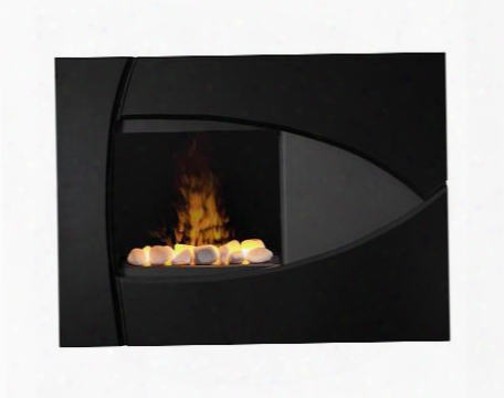 Bbk20r Brayden Wall Mount Electric Fireplace With White Rock Faux Flame Bed Cool Glass Front Remote Control And Contempotary Style In