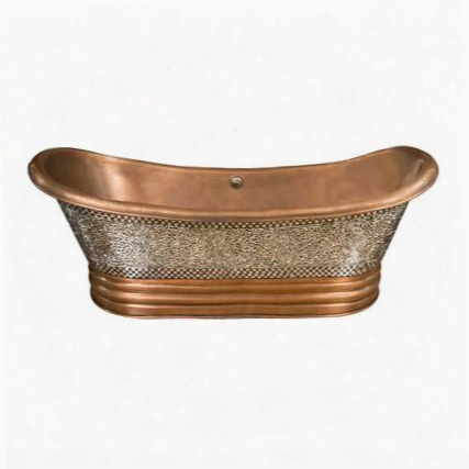 Cotdsn68b-mo Falkner Double Slipper Mosaic Copper 68 No Faucet