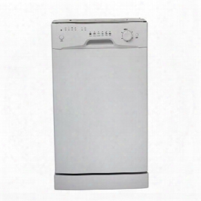 "Ddw1809w1 Full Console 18"" Dishwasher With Front Control Quiet 55 Dba 4 Temperature Settings Energy Star Compatible And Stainless Steel Tub In"