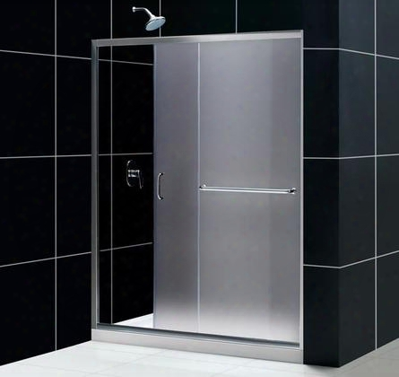 Dl-6107c-04fr Infinity-z Frameless Sliding Shower Door 36 By 48 Single Threshold Shower Base And Qwall-5 Shower Backwall