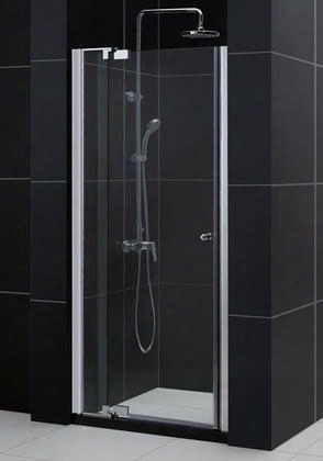 Dl-6431c-01cl Allure Frameless Pivot Shower Door And Slimline 36 By 48 Single Threshold Shower