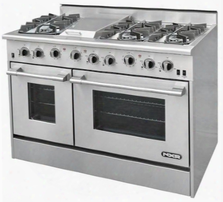 "Drgb4801lp 48"" Pro-style Gas Range With 6 Sealed Burners Griddle 4.2 Cu. Ft. Convection Oven & 2.5 Cu. Ft. Secondary Oven And Infrared Broiler In Stainless"