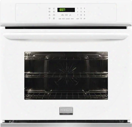 "Fgew3065pw 30"" Gallery Series Single Electric Wall Oven With 4.6 Cu. Ft. Capacity Quick Preheat True Convection Oven One-touch Options Steam Cleaning And"