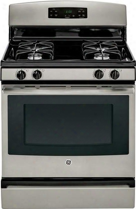 "Jgbs60gefsa 30"" 4.8 Cu. Ft. Free-standing Gas Range With Sealed Cooktop Burners Standard Clean Oven And 1 Incandescent Oven Light In"
