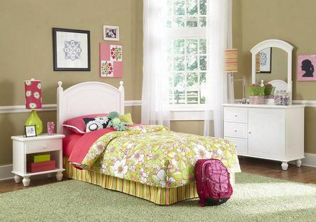 Powell Collection 929-189 Bedroom In A Box With Headboard Mirror Dresser And Nightstand In