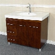 203129-W-L 39 Single Sink Vanity - Wood - Walnut - Left Side