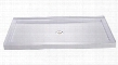 DL-6195C-01 SlimLine 32 by 32 Single Threshold Shower Base and QWALL-5 Shower Backwall