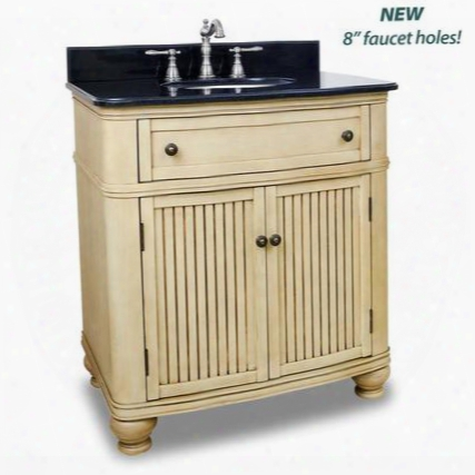 "Van028t 32"" Single Sink Vanity With Preassembled Top And Bowl Two Doors Single Drawer Simple Beadboard Doors Andc Urved Hape In Hand Created Antique"