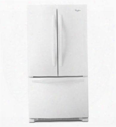 "Wrf532smbw 33"" Wide 22 Cu. Ft. Capacity Energy Star Qualified French Door Refrigerator With Accu-chill System Factor Installed Ice Maker Adaptive Defrost"