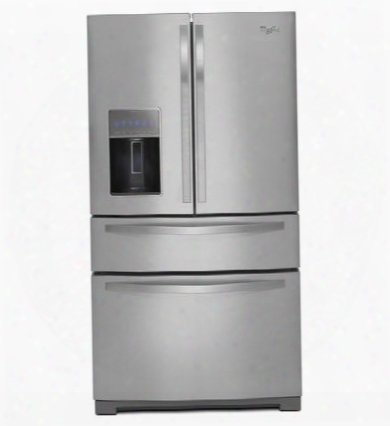 "Wrx988sibm 36"" French Door Refrigerator With 26 Cu. Ft. Double Freezer Storage Adjustable Gallon Door Bins External Filtered Water And Ice Dispenser And"