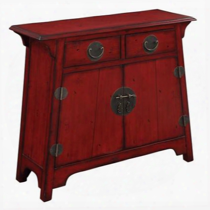 "32120 32"" Cabinet With 2 Drawers 2 Doors And Adjustable Shelf In Kwai Antique Red"