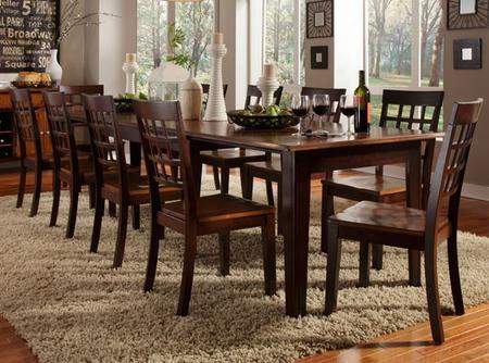 Btloe617l Bristol Point 132 Rectangular Dining Table With (3) 24 Leaves Oak-espresso