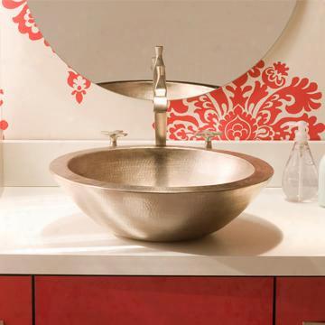 Cps555 Laguna Copper Bath Sink In Brushed
