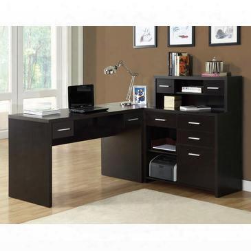 I 7018 Computer Desk - Cappuccino Left Or Right Facing