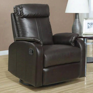 I 8081br Recliner - Swivel Rocker / Dark Brown Bonded