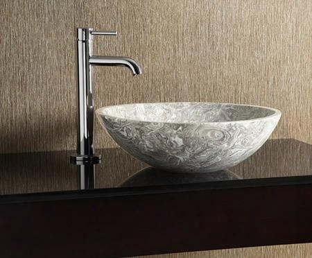 Mave170cog Stone 17 In. Round Vessel Sink In Overlord