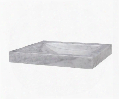 Svt240wt 24-1/8 In. Carrara Marble Vanity Top In Whitd With White