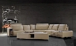 VG2T0646-HL Tera Collection Beige Leather Sectional Sofa with Coffee