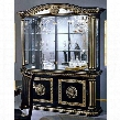 VGACROSELLABLK4D Rosella Collection 4-Door China Cabinet in Black and