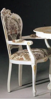Vgfmreginaac-wht Regina Collection Dining Arm Chair: