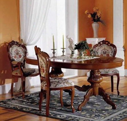 Vgfmreginadt-1-7pcset Regina Collection 7 Piece Dining Set With Italian Extension Table + 4 Side + 2 Arm Chairs: