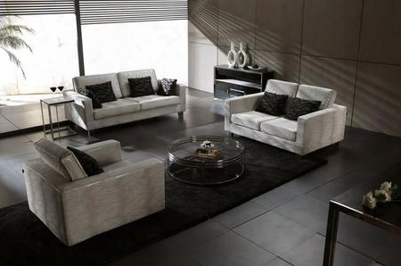 Vghovipe88b Vip Collection Contemporary 3 Pieces Fabric Sofa
