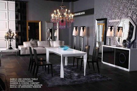 Vgunaa812-1805pcset Armani Xavira Collection 5 Piece Dining Table