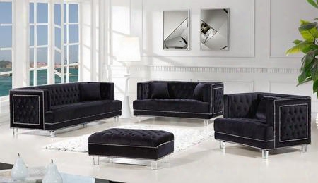 4-piece Lucas Collection Living Room Set With Sofa Loveseat Arm Chair And Ottoman In