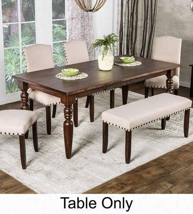 "Anapolis Collection Cm3440t-78-table 79"" Dining Table With Transitional Style Turned Legs And Solid Pine In Dark Walnut"