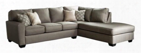 Calicho Collection 91202-66-17 2pc Sectional Sofa With Left Arm Facing Sofa And Right Arm Facing Chaise In Cashmere