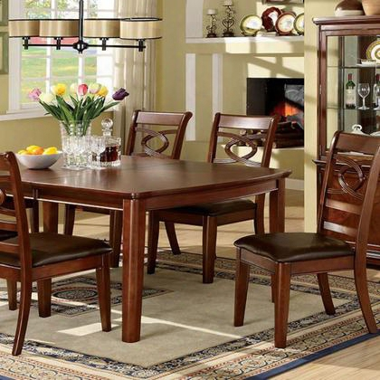 Carlton Cm3149t Dining Table With Transitional Style 18 Expandable Leaf Solid Wood Wood Veneer And Others Brown Cherry Finish In Brown