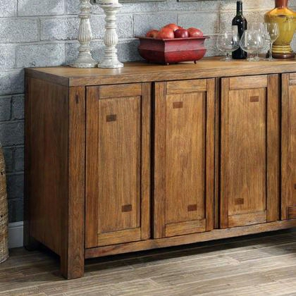 Frontier Cm3603sv Server With Transitional Style Bold Wood Structure Wood Block Details Solid Wood Wood Veneer And Others In Dark