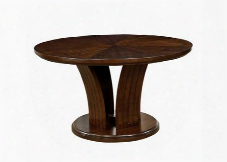 """Montreal I Collection Cm3711rt-table 54"""" Round Dining Table With Flared Panel Base And Curved Edges In"""