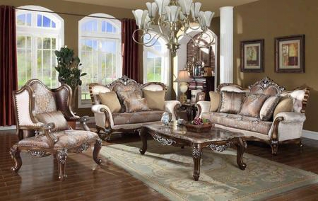 Sandro Collection 5 Piece Living Room Set With Sofa Loveseat Living Room Chair Coffee Table And End Table In Light Cherry