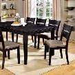 "Beresford CM3356T Table with Transitional Style 18"" Butterfly Leaf Double Deck Table Top Slat Back Chairs in Dark"