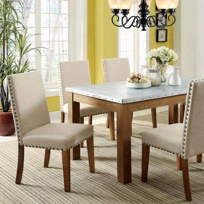 Walsh Cm3535t Dining Table With Industrial Style Clean And Crisp Silhouette Galvanized Iron Table Top Nailhead Tr1m In Natural