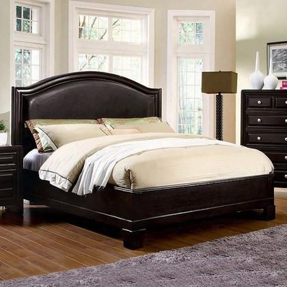 Winsor Cm7058q-bed Queen Bed With Transitional Style Platform Bed Padded Leatherette Headboard Slat Kit Included In