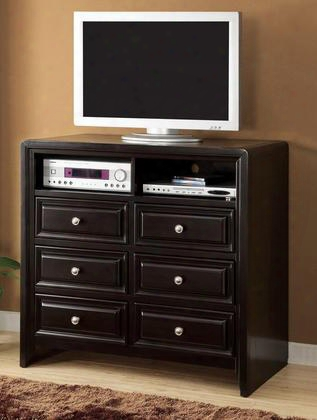 Yorkville Cm7058tv-42 Media Chest With Platform Bed Solid Wood Wood Veneer And Others Espresso Finish In