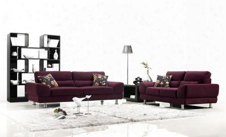 1005sofaset Modern 3 Pieces Purple Fabric Sofa