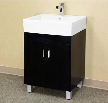 203146 22.8 Single Sink Vanity - Wood - Dark