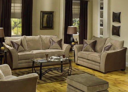 3262k3 Perimeter 4 Pieces Living Room Set: Sofa Loveseat Chair And Ottoman In Camel/godiva