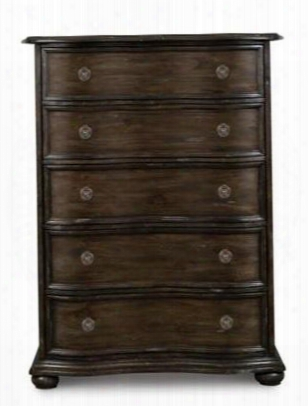 B2258-10 Muirfield Collection Drawer Chest In Distressed Pine
