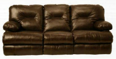 Cortez 6429-16364 Power Reclining Bonded Leather Sofa With Rocking Loveseat Stain Resistant Leather Accent Stitching 3 Seats In