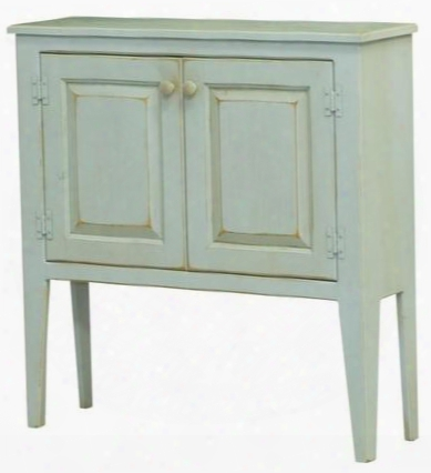 "Eliza 465003 36"" Honey Cabinet With 2 Doors Simple Knobs Tapered Legs And Premium Grade Pine Wood Construction In Seafoam"